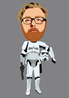 Lachlan as a storm trooper